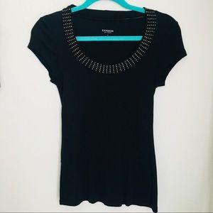 Black Express studded shirt